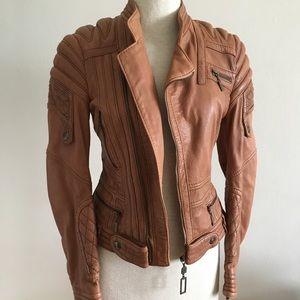 Just Cavalli Leather Motorcycle Jacket